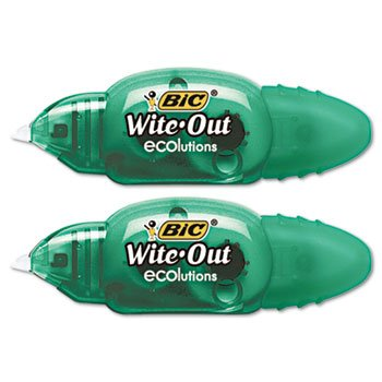 BIC WOETP21 - Wite-Out Ecolutions Mini Correction Tape, Whit