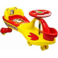 Goyal's Free Wheel Musical Frog Magic Car with Basket and Back Rest - (Yellow)