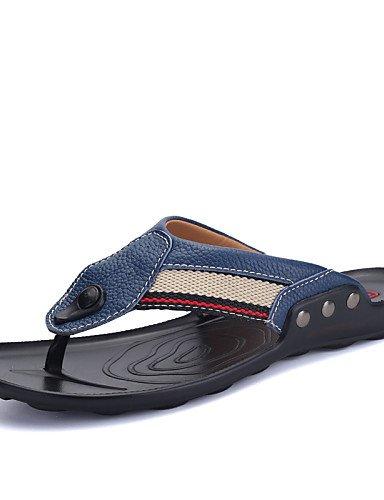 cn44 uk9 libre aire us6 blue uk5 6 chanclas blue eu43 zapatos hombre única talla 5 Casual de NTX al eu38 5 Piel us10 hombres negro azul 5 cn38 Lienzo XIAxqxawT