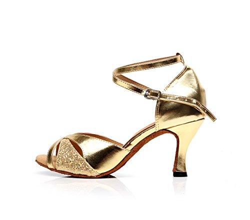 De Jazz Zapatos Salsa Samba La La De Cruzada Correa Mujeres JSHOE Hebilla heeled7 UK4 De Baile La De Gold Zapatos Las Sandalias Tacones Modern De Metal 5cm Tango EU35 Our36 Altos De del ZUSTw