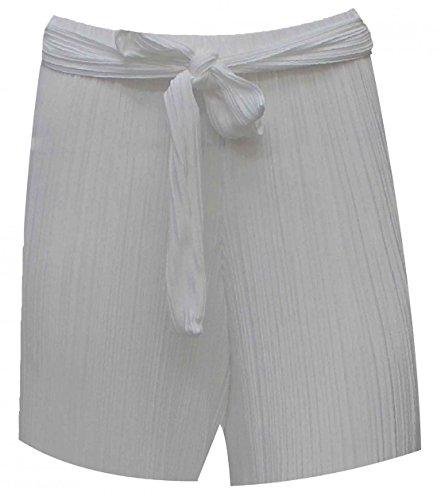 Crepe 40 a Grey cintura Wear 46 Womens vita pieghe pieghe Fashions Fancy Silver Islander IT con a Ladies tessuto alta Pantaloncini Party w4qEc1USxZ