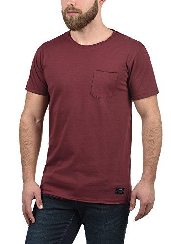 solid 100 Manga Red Andrej Hombre Wine T 0985 Corta shirt Con Cuello Algodón Redondo Camiseta Para Básica De Rx4WSwqCR