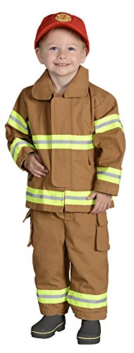 Aeromax Jr. Fire Fighter Bunker Gear, Tan, Size 18 Month (Make Believe Fancy Dress)