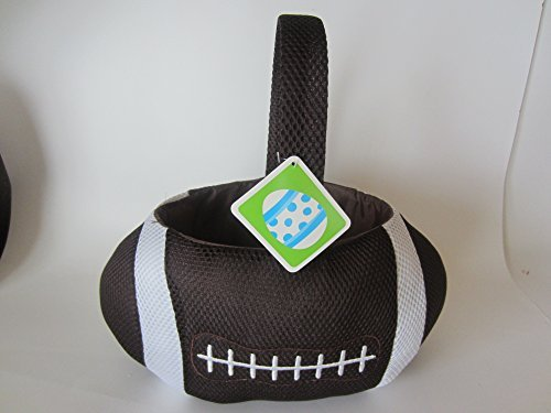 Plush Football Easter Basket , Halloween Basket or Home Decor
