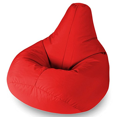 Xx l red highback beanbag chair water resistant bean bags for Bean bag chair company