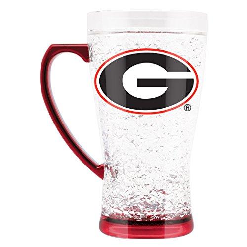 NCAA Georgia Bulldogs 16oz Crystal Freezer Flared Mug ()