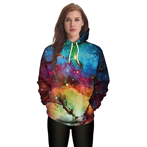 Hoodie Sweatshirt Women Halloween Unisex Casual Hooded Print Pullover Pullover Tops -