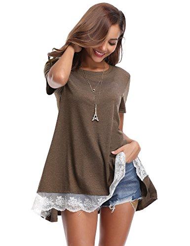 Blusa Camiseta Larga Camiseta Mujer Blusa Mujer T Larga w4A4rYqx