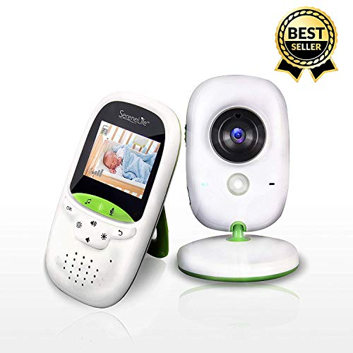 "Serenelife Wireless Digital Baby Monitor - Video Temperature Thermometer Sleep Camera System w/ 2"" Digital Color Screen, Rechargeable Battery, Audio Speaker and Portable Mobile Clip"