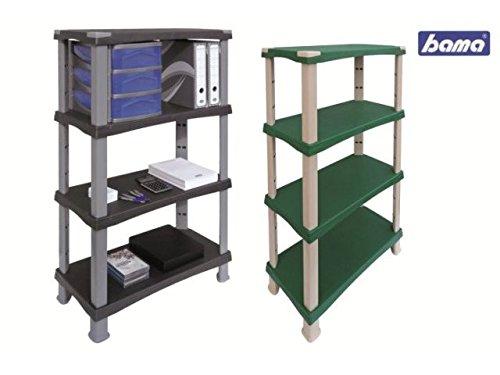 Bama Futuro 4 Shelves-Green, One Size