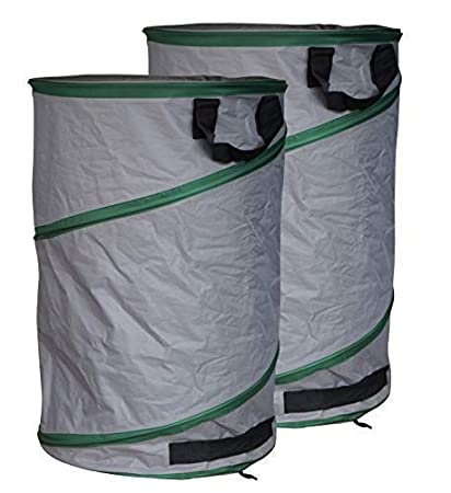 GardenMate 2X Sacs de Jardin Pop-Up 200L Premium en Polyester Oxford indéchirable 600D