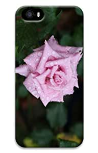 iPhone 5S Customized Unique Print Design Pink Rose With Raindrops iPhone 5 5S Cases 3D