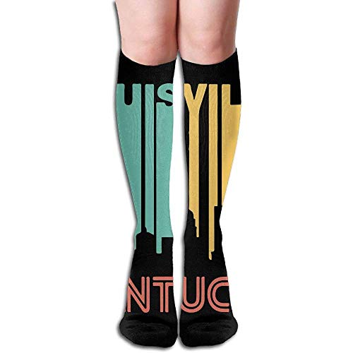 Retro 1970's Style Louisville Kentucky Skyline Women's Fashion Knee High Socks Casual Socks 50cm