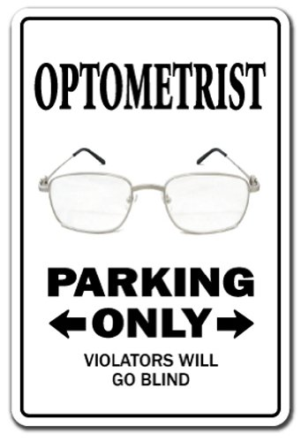 SignMission Optometrist Decal Parking Eye dr Glasses Doctor Contact Lens | Indoor/Outdoor | 12
