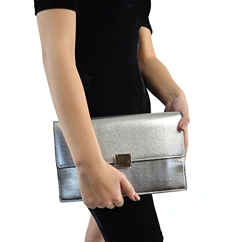 Glam Metallic Clutch - 5