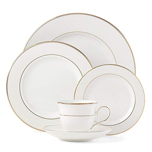Lenox Opal Innocence Stripe Gold 5-piece Place Setting