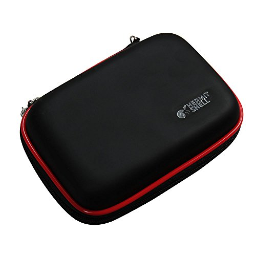 Hermitshell Travel EVA Protective Case Carrying Pouch Cover Bag Compact sizes for Micro Mini Pocket Projector AAXA LED Pico P1 Jr P2 Jr P1JR P2JR Ricoh GR II Digital Camera Color: Black