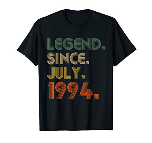 Legend Since July 1994 Shirt 25th Birthday Gifts 25 Yrs Old