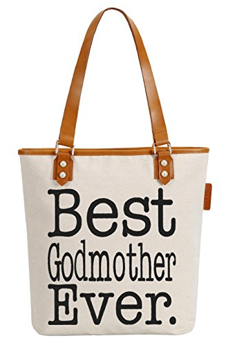 Top Godmother Handle Soeach Womens Pearly Canvas Best Bag Shoulder Tote 0YOxYw