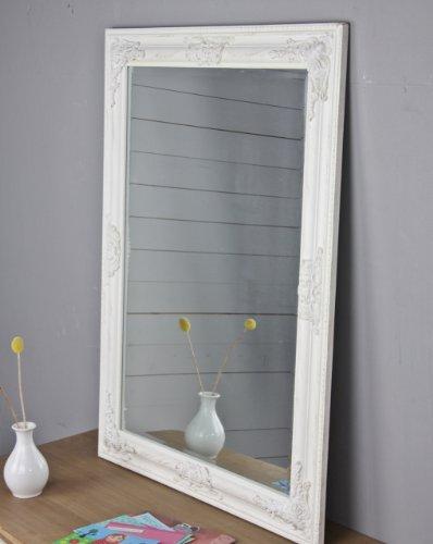 Spiegel weiß antik 82x62 cm Holz NEU Wandspiegel barock Badspiegel Standspiegel