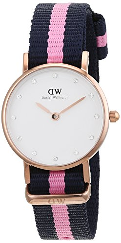 Daniel Wellington Women's 0906DW Winchester Stainless Steel Watch With Striped Nylon Band