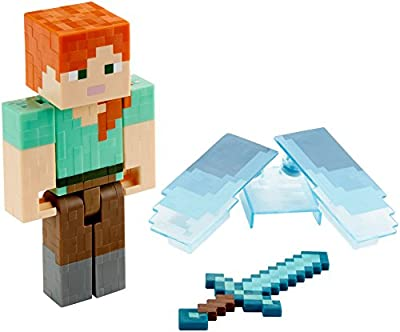 Minecraft Alex with Elytra Basic Figure from Mattel