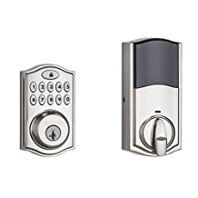 Kwikset 99140-002 SmartCode® 914 Electronic UL Deadbolt with SmartKey and Z-Wave, Satin Nickel