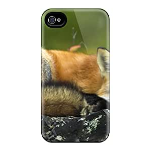 Iphone 5/5s Case Bumper Tpu Skin Cover For Sleeping Red Fox Accessories