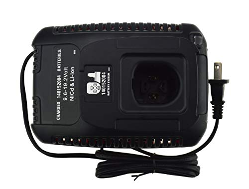 Janri Relacement Li-ion lithium ion & Ni-cd/Ni-Cad Ni-Mh power tool Battery Charger kit 9.6V MAX and 19.2V MAX For Craftsman C3 DieHard XCP 140152004 1425301 1323903 130279005 11375 11376 315.PP2011 (Charger Volt Craftsman 18)