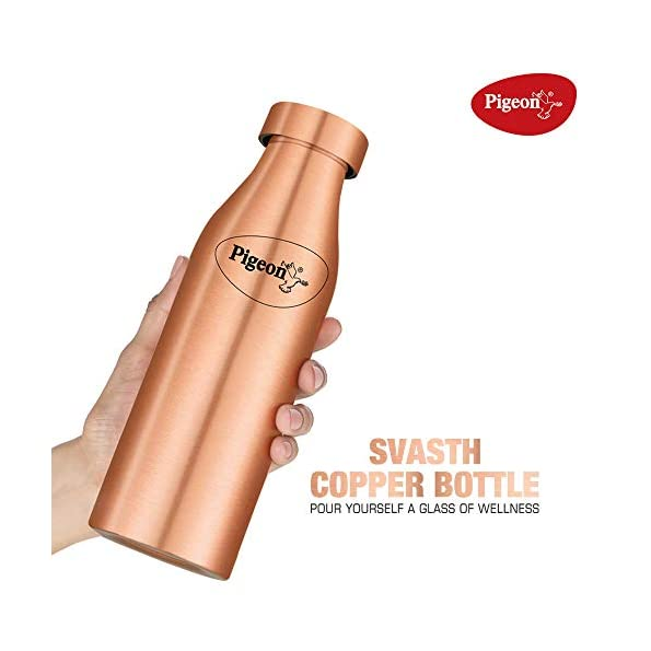 Pigeon-by-Stovekraft-SVASTH-Copper-Water-Bottle-with-Leak-Proof-Cap-Glossy-Finish-Storage-Water-Helps-Weight-Loss-Benefit-Yoga-1-Litre