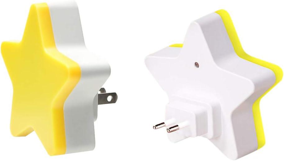 FuYouTa Control de sensor LED luz nocturna Luz de noche LED en forma de estrella L/ámpara de mesita de noche para dormitorio infantil.Decoraci/ón LED en forma de estrella para luz nocturna para beb/és.