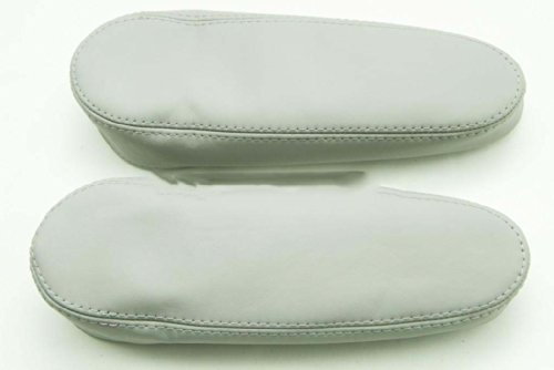 Fits 2003-2009 Lexus RX 300 330 350 Real Gray-Second Gen Leather Seat Armrest Covers (Leather Part Only)