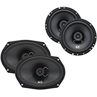6.5 Inch and 6x9 Inch Car Coaxial Speaker Package by CT Sounds