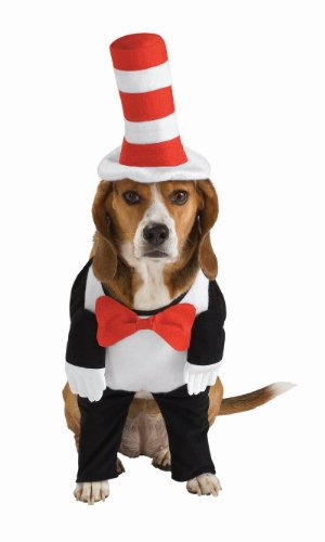 *D* Cat in the Hat Pet Costume, Size Large