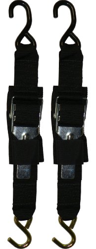 (Rod Saver Paddle Buckle 2 inch Trailer Tie-Downs (4 Feet), Pair)