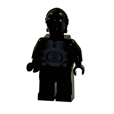 LEGO Star Wars Minifigure from Death Star - Black Protocol Droid (10188): Toys & Games