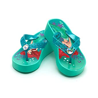 52c95e5043aff9 The Little Mermaid Wedge Flip Flops For Kids UK Size 11-12  Eu Size 29-31   Amazon.co.uk  Shoes   Bags