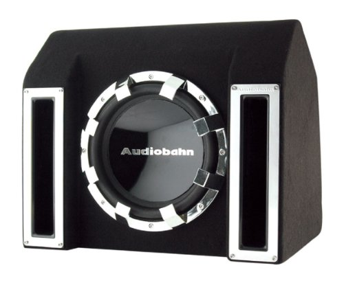 Audiobahn Car - Audiobahn ABB121J 400W RMS, Single 12-Inch Slot Ported Loaded Subwoofer Enclosure