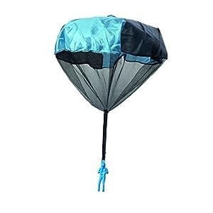 4x Fallschirmspringer mit Wurfstab Fallschirm Spiel Springer Draußen Kinder...