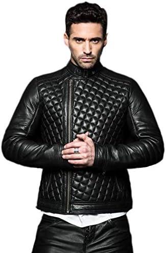Brand Me Mens Genuine Leather Pure Lambskin Biker Jacket BM031