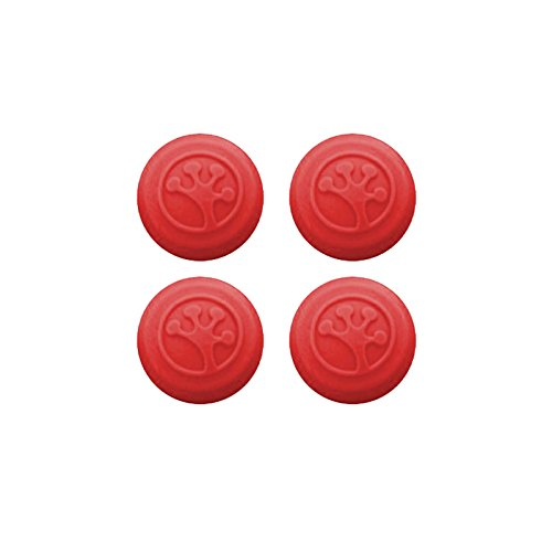 Grip-iT Analog Stick Covers for Xbox 360/One, PS3 and PS4, 4 Pack, Red