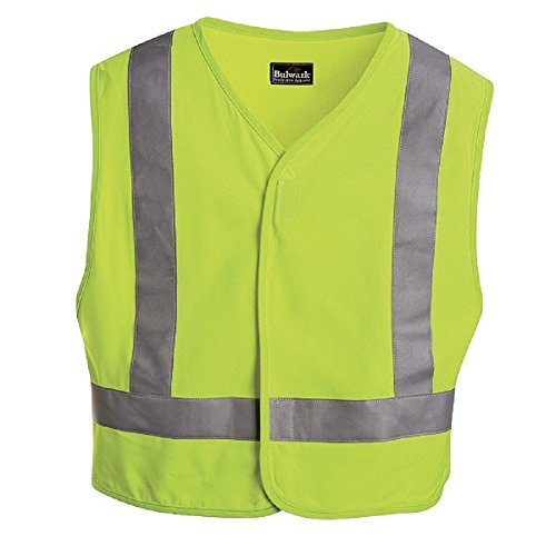 Bulwark Men's Big and Tall Hi-Visibility Flame-Resistant Safety Vest, Yellow/Green, (Bulwark Hi Visibility)
