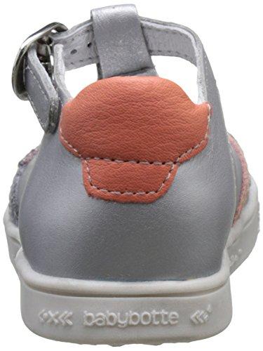 babybotte Starmiss, Zapatillas Altas para Niñas Gris (Gris/Or Rose)