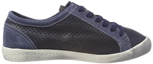 Smooth Ica388sof navy Trainers Softinos suede dk Blue grey Women's 4H57nqxwnv