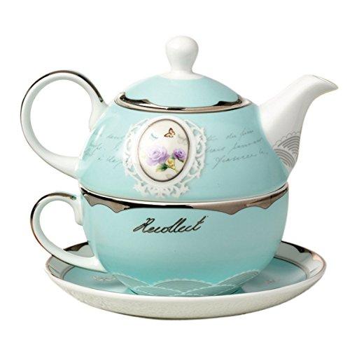 Jusalpha China Teapot Saucer Turquoise