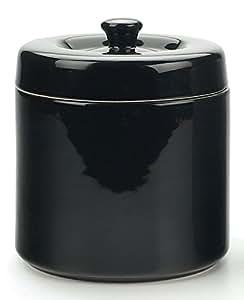 RSVP Stoneware Grease Keeper - Black