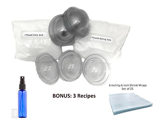Starter Kit Includes Citric Acid, Baking Soda, Shrink Wraps, Molds ()