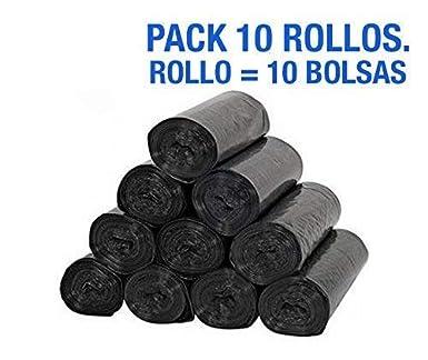 Pack 10 rollos de bolsas de basura para comunidad 85x105 cm ...