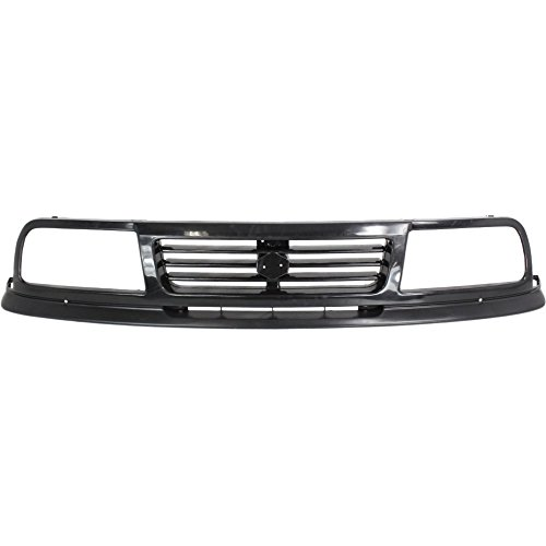 Grille for Suzuki Sidekick 91-95 Plastic Painted-Black 4-Door ()
