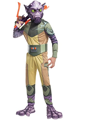 Comic Con Costumes For Kids (Rubie's Costume Star Wars Rebels Zeb Deluxe Child Costume, Medium)